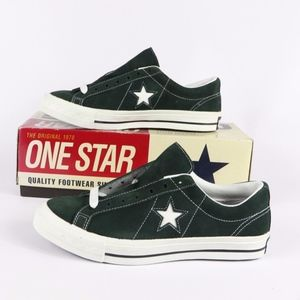 Vintage New Converse One Star Suede Ox Shoes Green